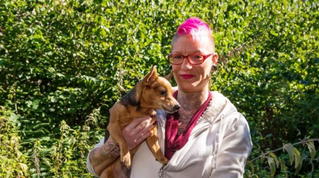Paula met haar hondje